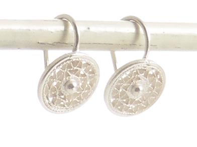 Ohrringe silber  Ohrringe Geflecht Silber - Filigrana-Schmuck